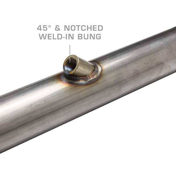 Wideband Air/Fuel Ratio Oxygen Sensor 45 Degree Offset Weld-In Bung Installed