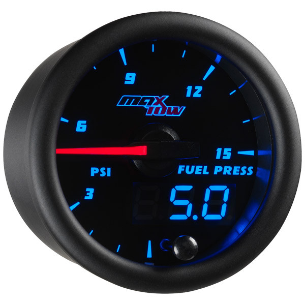 Black & Blue MaxTow 15 PSI Fuel Pressure Gauge