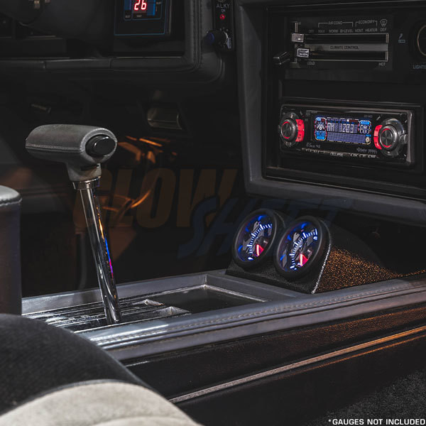 Black Dual Gauge Console Pod for 1978-1987 Buick Regal Installed