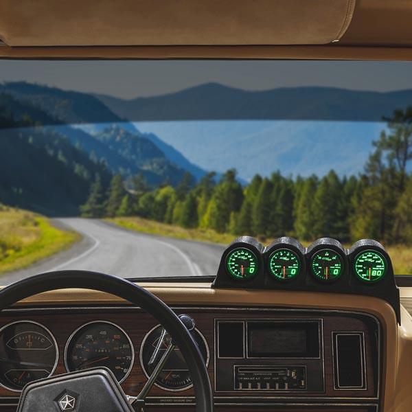 MaxTow Quad Dashboard Gauge Package for 1986-1993 Dodge Ram Cummins