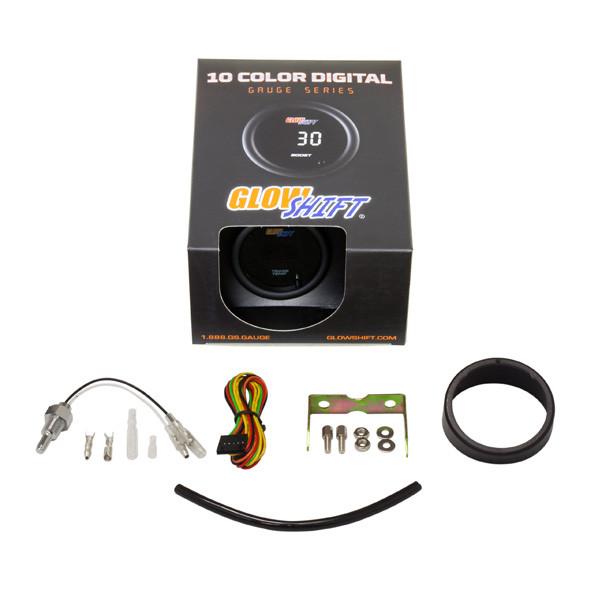 GlowShift 10 Color Digital Transmission Temperature Gauge Unboxed
