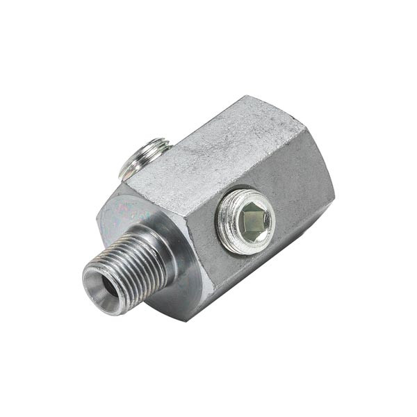 1/8 BSPT Male to 1/8-27 NPT Female Hex Thread Adapter