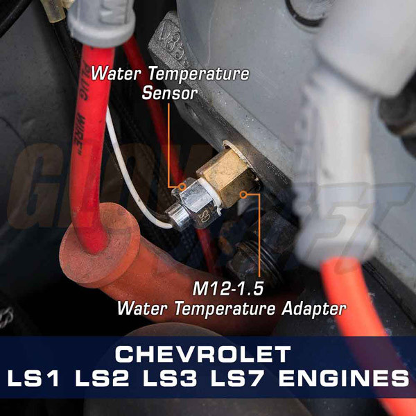 Water Temperature Sensor Thread Adapter for GM LS1, LS2, LS3, LS7 & LSX