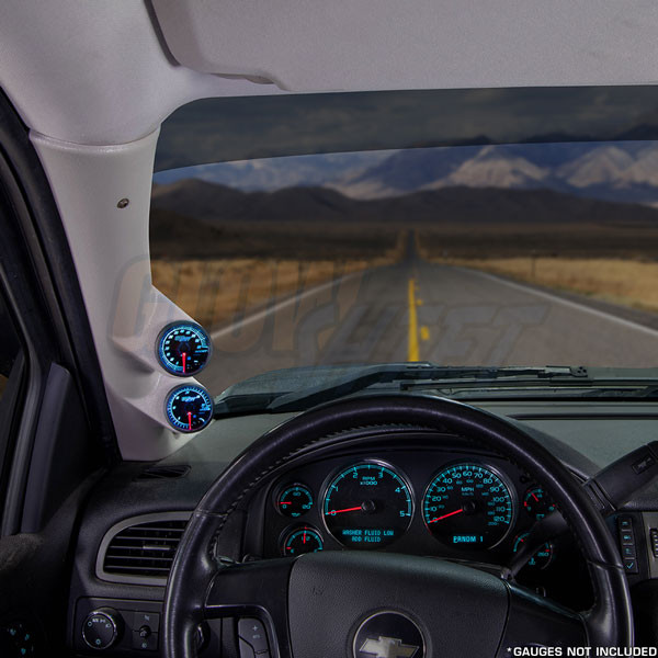 2007-2013 Chevrolet Suburban Tan Full Size Dual Pillar Pod Installed