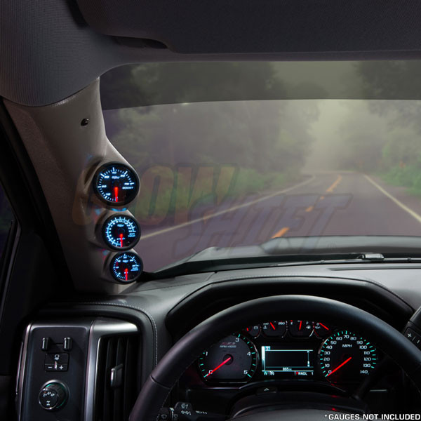 2014-2020 Chevrolet Suburban Tan Triple Pillar Pod Straight View