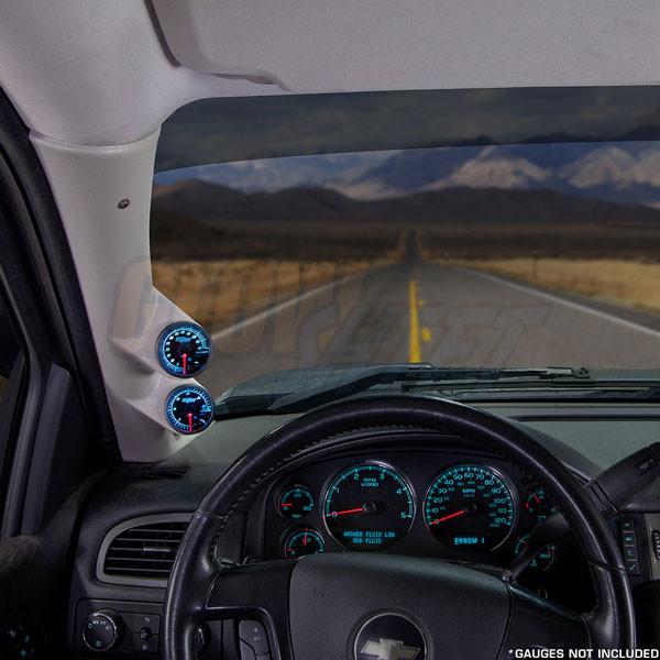 2007-2013 Chevrolet Tahoe Tan Full Size Dual Pillar Pod Installed