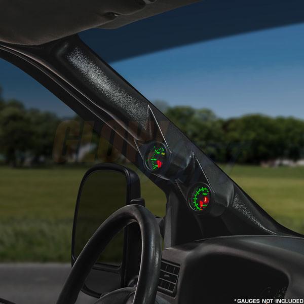 Black Full Size Dual Pillar Gauge Pod for 2000-2005 Ford Excursion