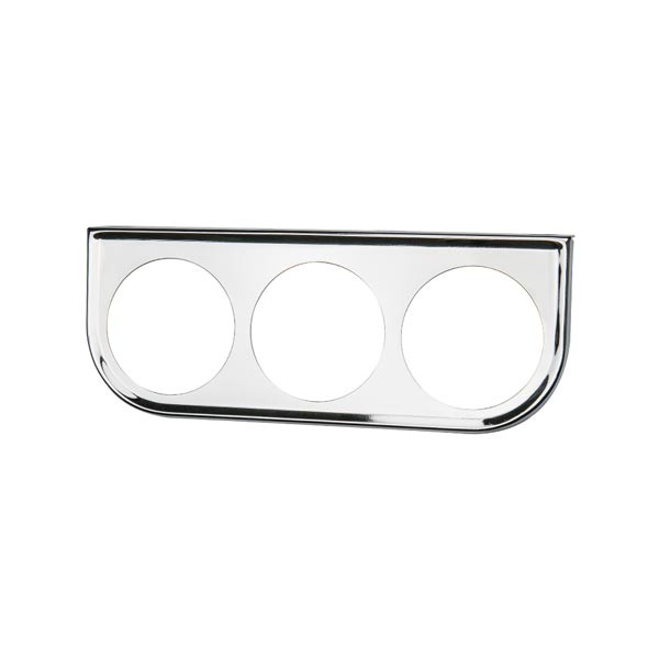 Universal Triple Gauge Chrome Under Dashboard Mounting Bracket Pod