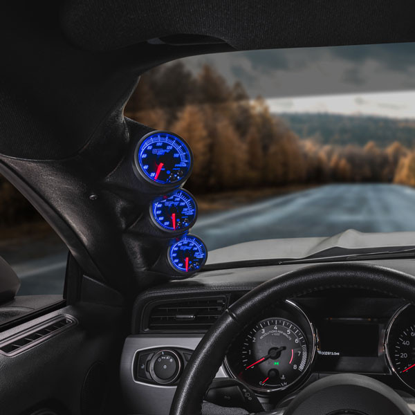 Elite 10 Color Series Triple Gauge Package for 2015-2020 Ford Mustang Installed