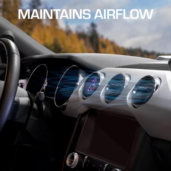 Air Vent Gauge Pod Maintains Airflow
