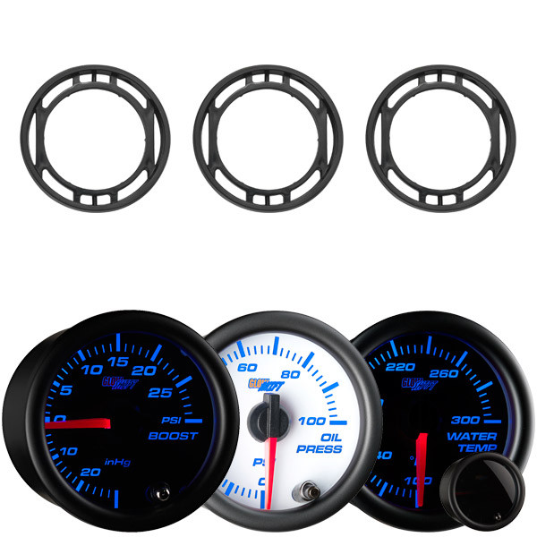 7 Color Series Triple Air Vent Gauge Package for 2015-2020 Ford Mustang