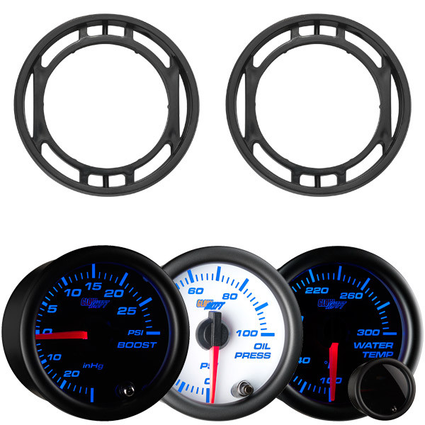 7 Color Series Triple Air Vent Gauge Package for 2015-2021 Ford Mustang