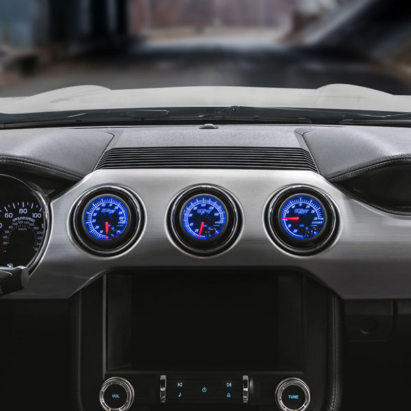 Elite 10 Color Series Triple Air Vent Gauge Package for 2015-2020 Ford Mustang Installed