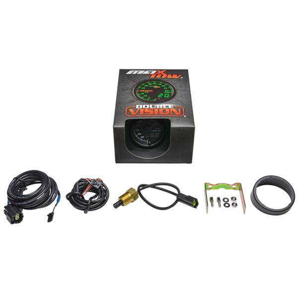 Black & Green MaxTow Intake Temperature Gauge