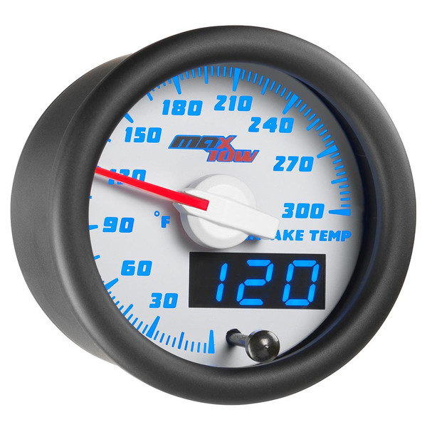 White & Blue MaxTow Intake Temperature Gauge