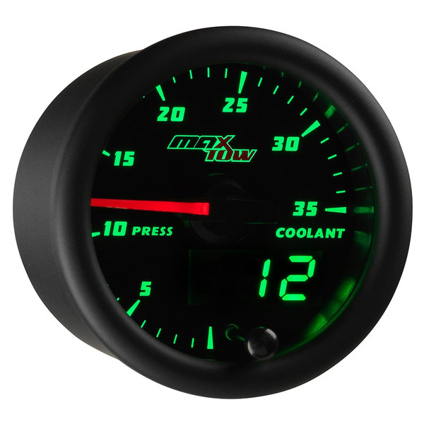Black & Green MaxTow 35 PSI Coolant Pressure Gauge