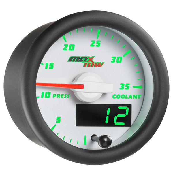 White & Green MaxTow 35 PSI Coolant Pressure Gauge