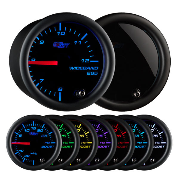 Tinted 7 Color Analog E85 Wideband Air/Fuel Ratio Gauge