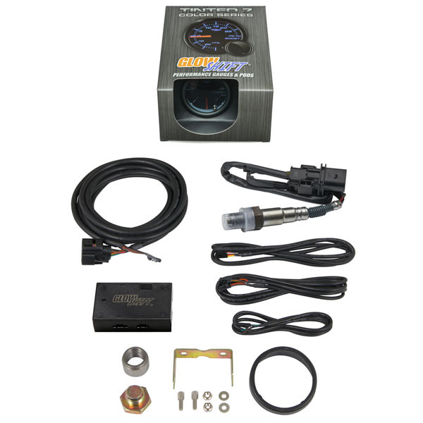 Tinted 7 Color Analog E85 Wideband Air/Fuel Ratio Gauge Unboxed