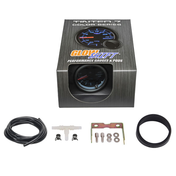 GlowShift Tinted 7 Color 45 PSI Turbo Boost/Vacuum Gauge Unboxed