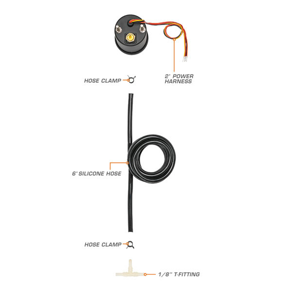 7 Color Series 45 PSI Boost/Vacuum Parts & Wiring Schematic