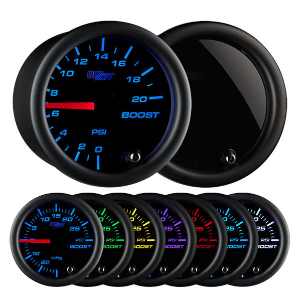 Tinted 7 Color 20 PSI Boost Gauge