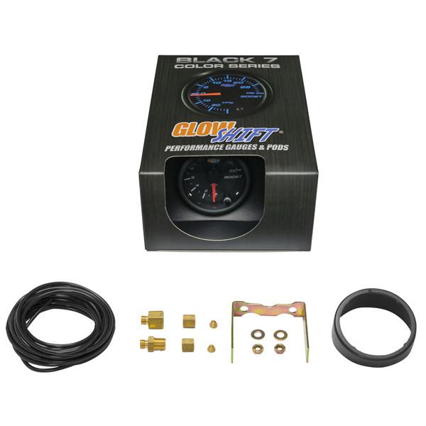 GlowShift Black 7 Color 20 PSI Boost Gauge Unboxed