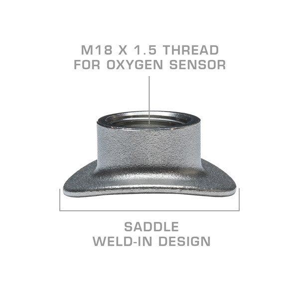 Wideband Air/Fuel Ratio Oxygen Sensor Weld-In Saddle Bung