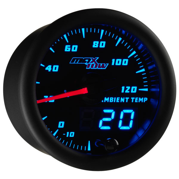 Black & Blue MaxTow Ambient Air Temperature Gauge