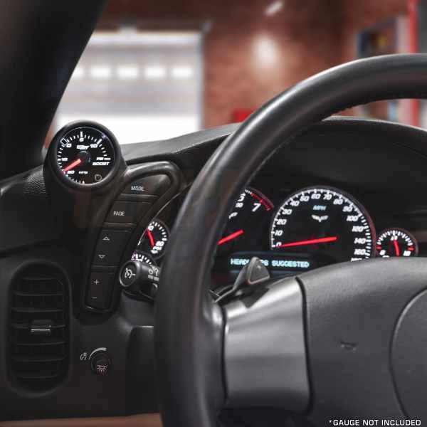 Single Gauge Dashboard Pod Installed to a 2005-2013 Chevrolet Corvette