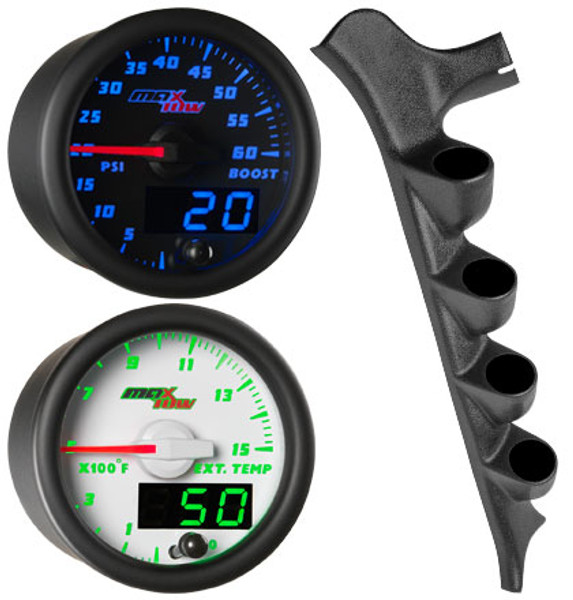 MaxTow Quad Gauge Package for 1987-1991 Ford F-Series