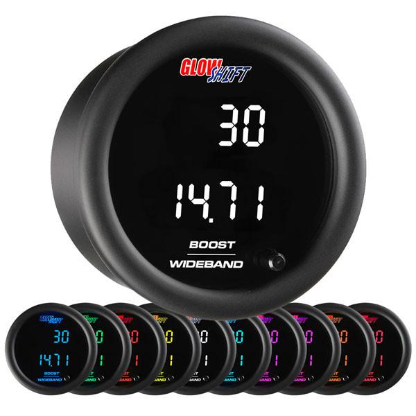 10 Color Digital Dual Boost/Vacuum & Wideband Air/Fuel Ratio Gauge