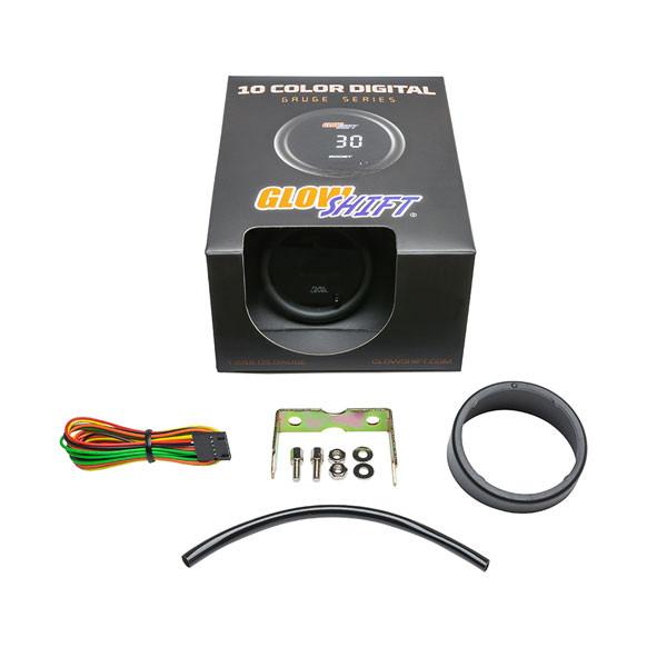 GlowShift 10 Color Digital Fuel Level Gauge