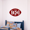 Wood Wall Football Monogram Cutout