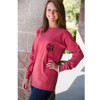 Crimson Red Long Sleeve Comfort Color Tshirt