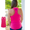 Monogram Raspberry Racer Back Tank │HandPicked