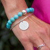 Twice as Nice Sterling Turquoise Stone Bracelet │HandPicked