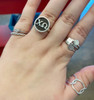 HP Exclusive Sterling Block Personalized Round Ring | Greek | HandPicked