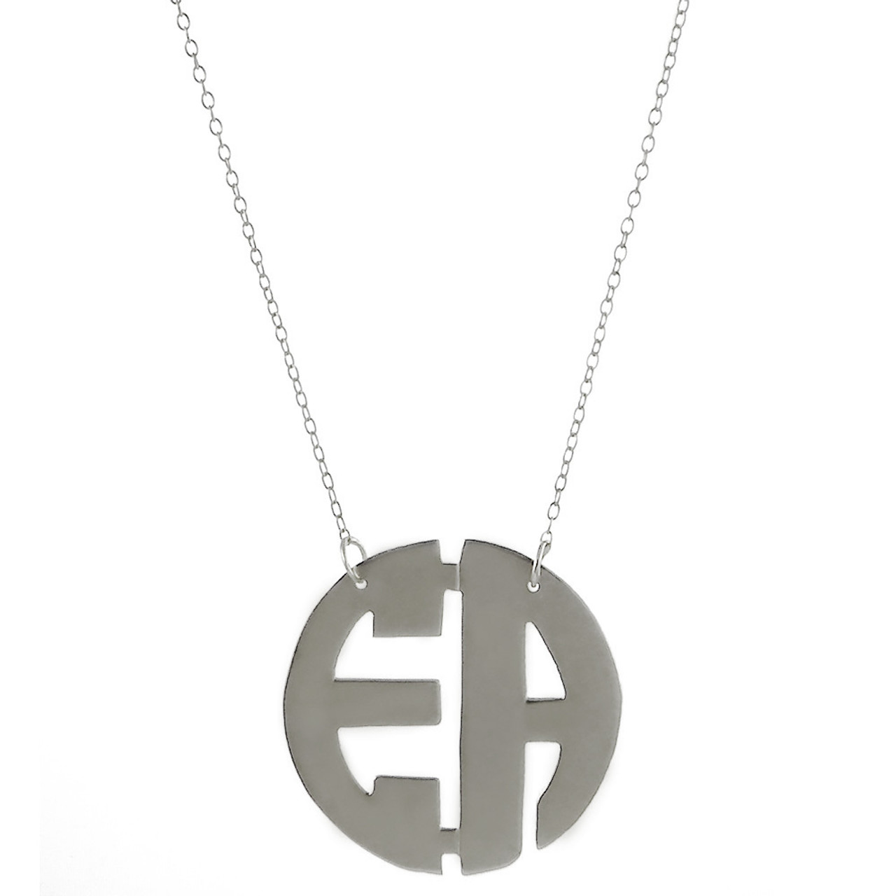 Custom Made with Any Initial! Block Monogram Necklace