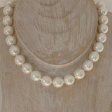 12mm Large Classic Glass Pearl Necklace - Fashion