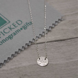 Suspended Hammered Disc Sterling Silver Necklace - HP Exclusive Design