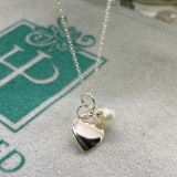 """""""You Are """" Always in my Heart - Dainty Sterling Heart with Pearl"""