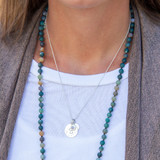 Single Initial Birthstone Necklace│HandPicked