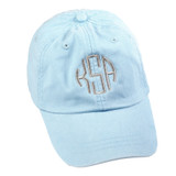 Personalized Baby Blue Pigment-Dyed Baseball Cap │HandPicked