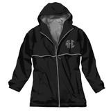 Black Monogrammed Rain Jacket │Charles River │HandPicked