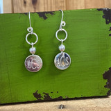WOW!  Monogram Earrings - HP Exclusive Sterling Design