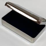 Top Gifted Monogram Jewelry Keepsake Box! Beaded Double Edge Hinged Top