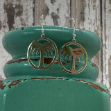 """HandPicked Original Palm Cutout Sterling Silver Earrings - 1"""""""