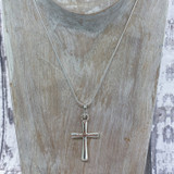 Artisan Crafted Sterling Cross Pendant