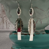 """Bar and Pointed Tear Unique Design - 2.25""""  HP Artisan Crafted Sterling Silver Earrings"""